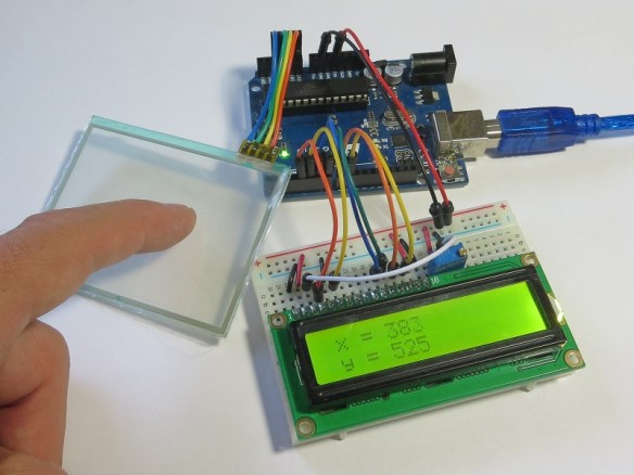 Testing Nintendo Touchscreen With Arduino