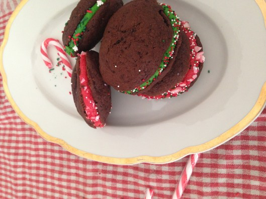 Chocolate Whoopie Pies with Marshmallow Frosting