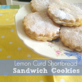 Lemon Curd Shortbread Sandwich Cookies