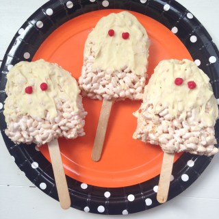 Halloween Ghost Rice Krispie Pops