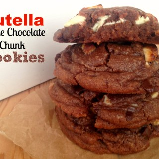 Soft Nutella White Chocolate Chunk Cookies