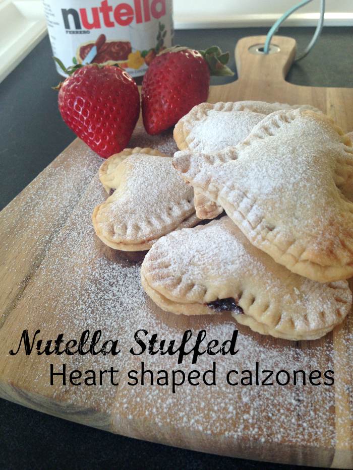 Nutella Stuffed Mini Heart Calzones at Kerry Cooks