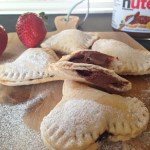 Nutella Stuffed Mini Heart Calzones