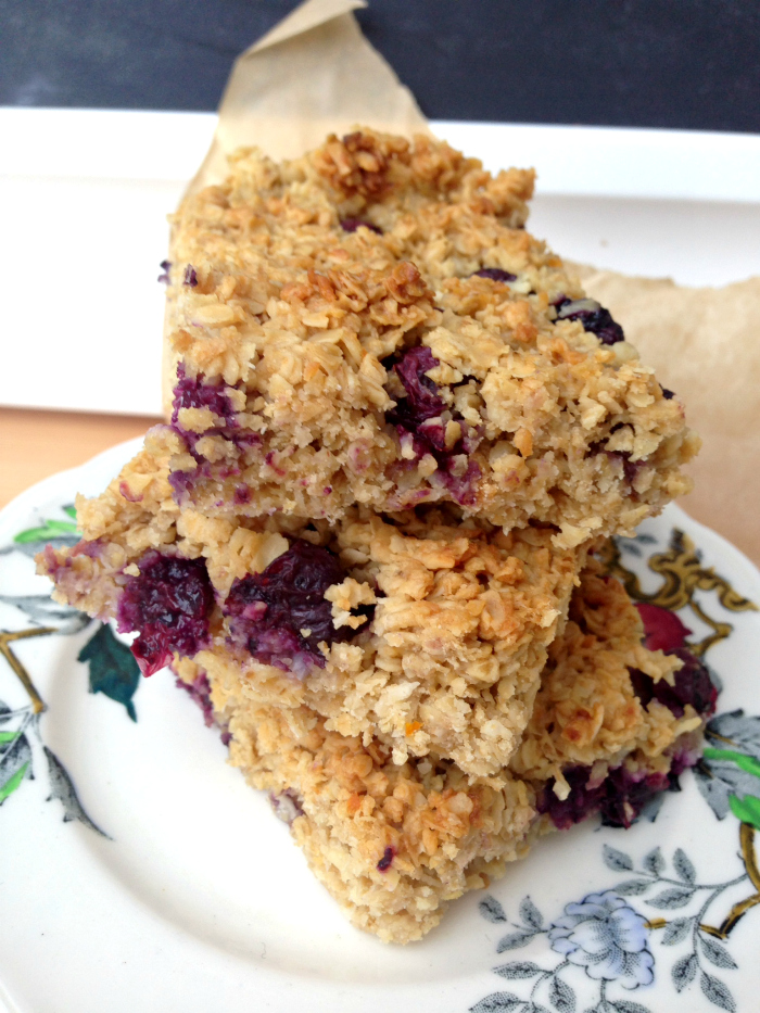 You need these healthy blueberry and oat bars! They're so easy to make, and full of wholesome ingredients. Healthy food that actually tastes good! Blueberry and Coconut Oat Bars
