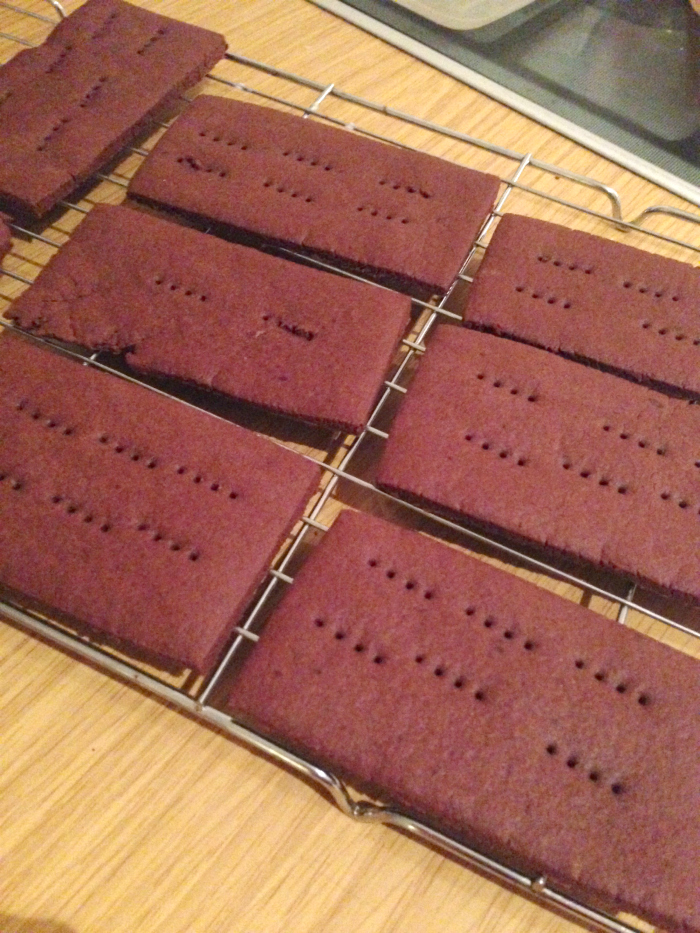 Homemade Chocolate Bourbon Biscuits