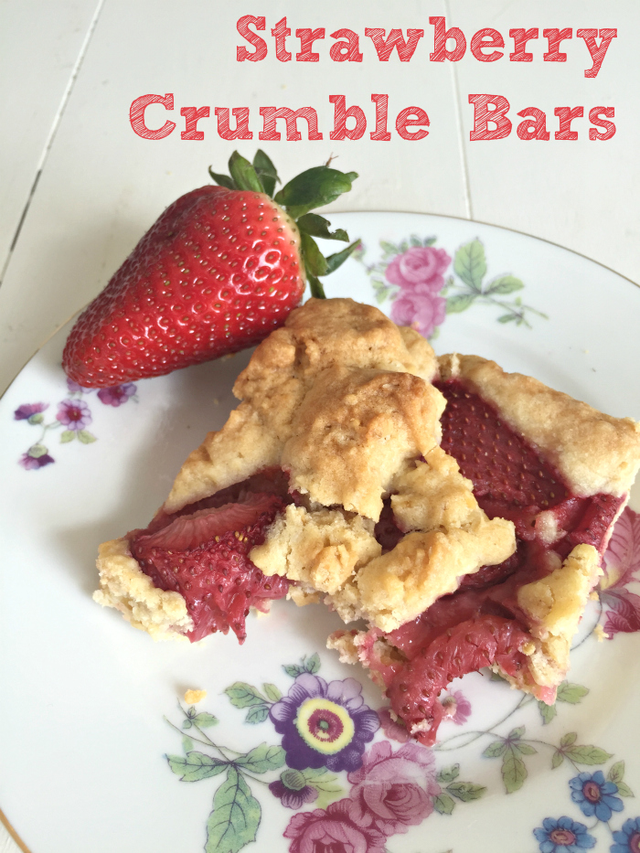 Strawberry Crumble Bars - yummy for summer!