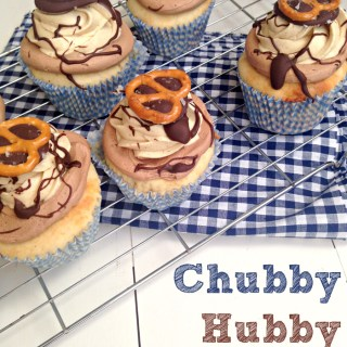 {Chubby Hubby Cupcakes} Malted Vanilla Cupcakes with Chocolate Peanut Butter Frosting
