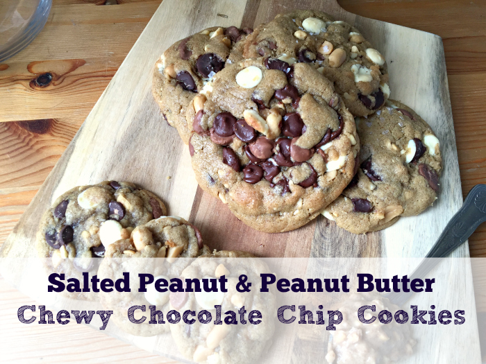 SO addictive and so good - Salted Peanut Butter Chocolate Chip Cookies