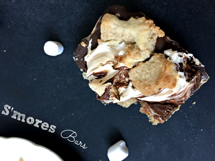 Gooey S'mores Chocolate Marshmallow Bars - the delicious all in one way to eat S'mores!