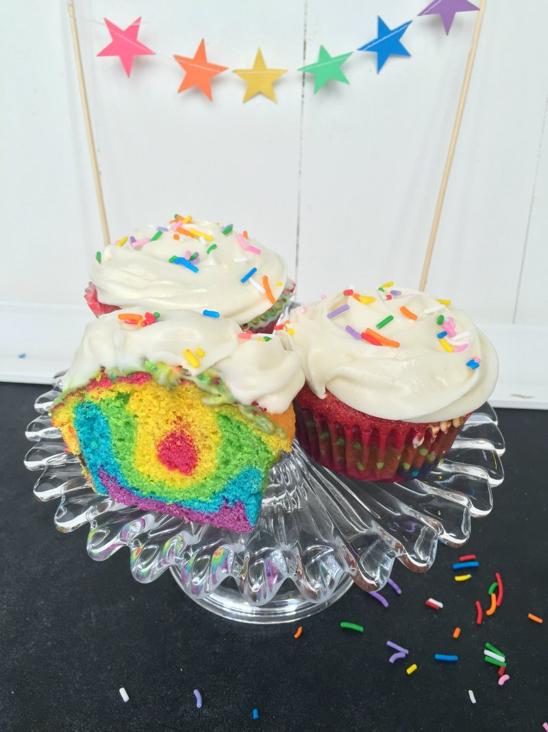 Incredibly Easy Rainbow Cupcakes Recipe - the most awesome cupcakes for a kids birthday party ever!
