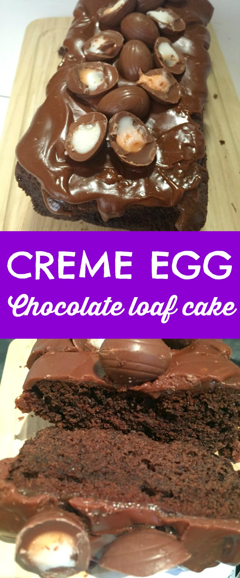 SO GOOD! Creme Egg Chocolate Loaf Cake