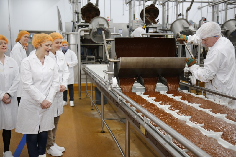 Fancy a peek inside the Thorntons Chocolate Factory?! Come and see inside and watch the chocolates being made!