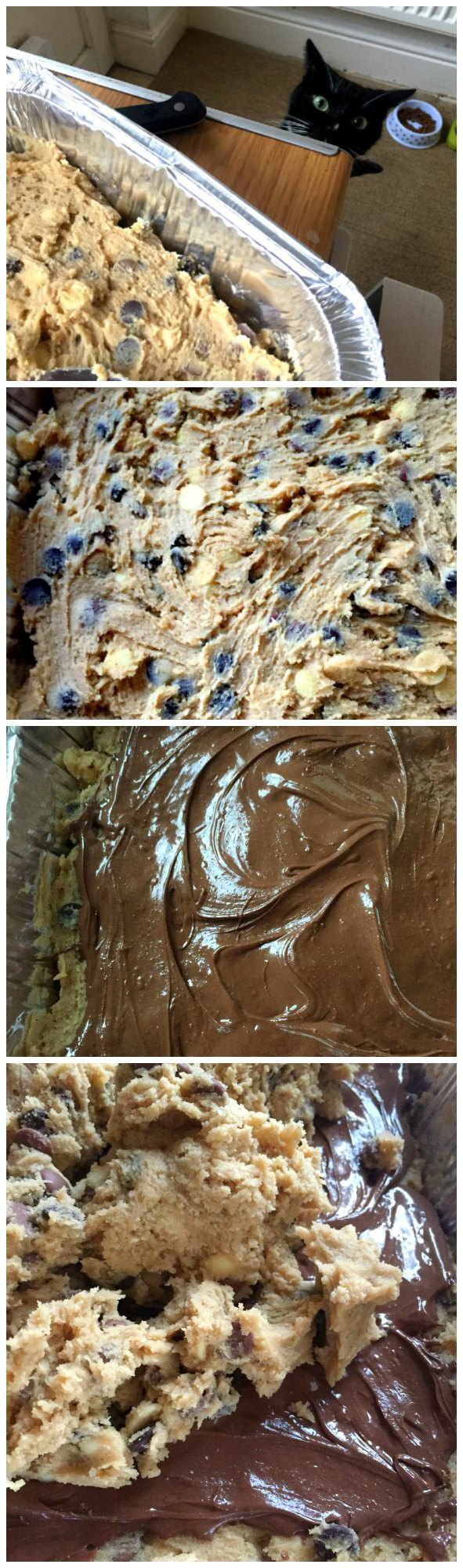 cookie bars with nutella