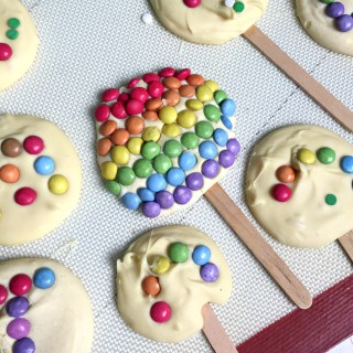 Rainbow White Chocolate Lollipops