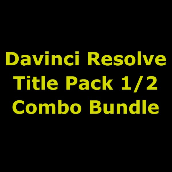 Davinci Resolve Title Pack Combo (Packs 1 and 2) 1