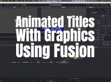 Custom Animated Titles with Davinci Resolve Fusion 9