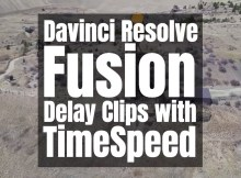 Davinci Resolve Fusion's TimeSpeed Node to delay clip start time 2