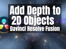 Davinci Resolve Fusion - Depth to 2D Objects and Lens Flares 1