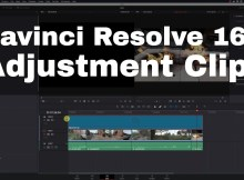 Color Grading and Effects with Davinci Resolve 16 Adjustment Clip 1