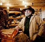 Saddle maker, Mark Nelson, in his home workshop in Boyceville, Wisc. — Sean McCormick