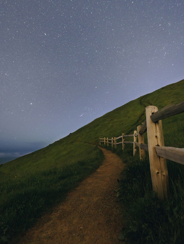 Night sky and path 600