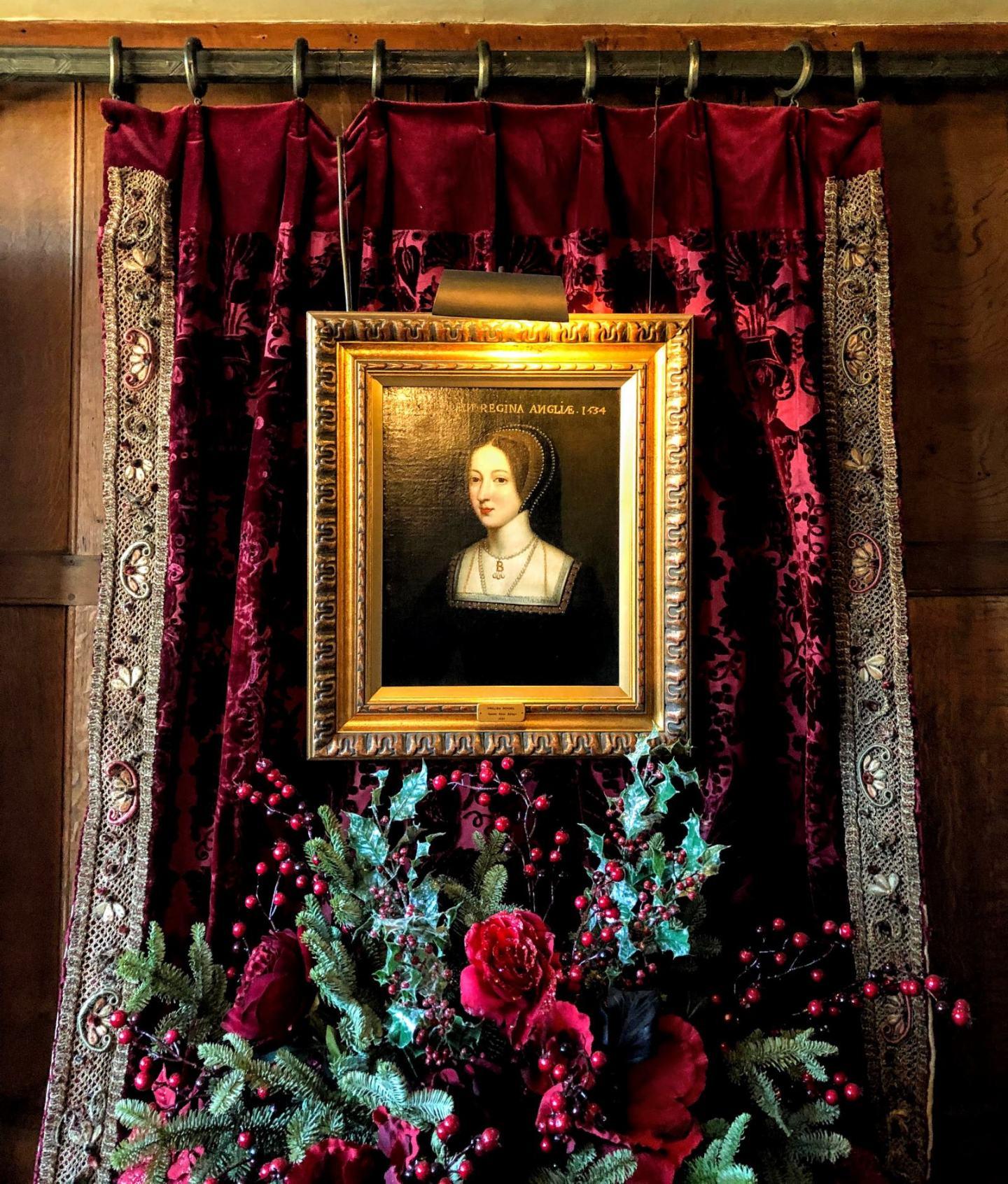 the portrait of Anne Boleyn hanging in her childhood home Hever castle