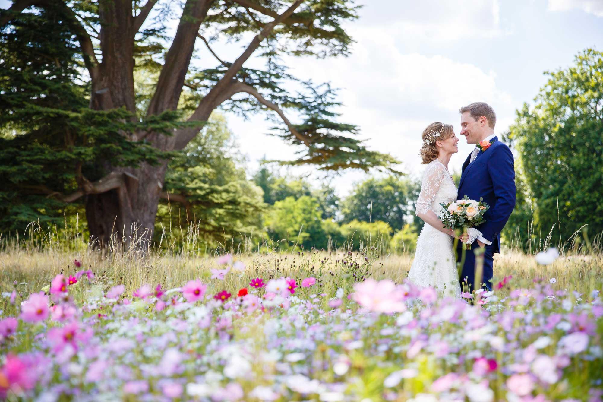 wild flower meadow bromley wedding photographer