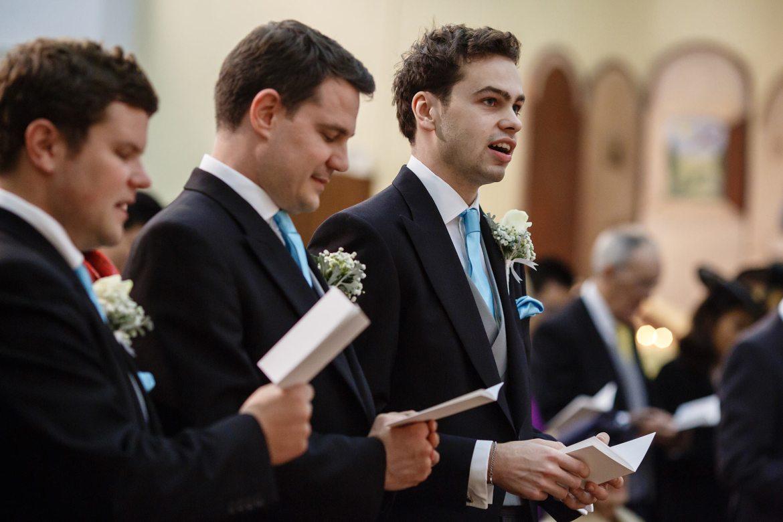 choir at wedding ceremony princes risborough church
