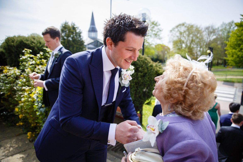 gran congratulates groom