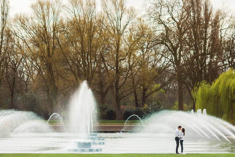 Battersea Park Engagement Shoot