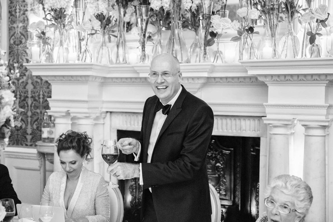 speech at claridges wedding