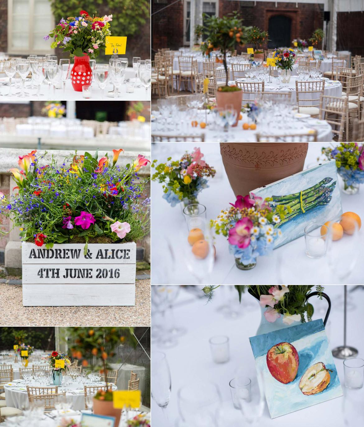 tables setup marquee