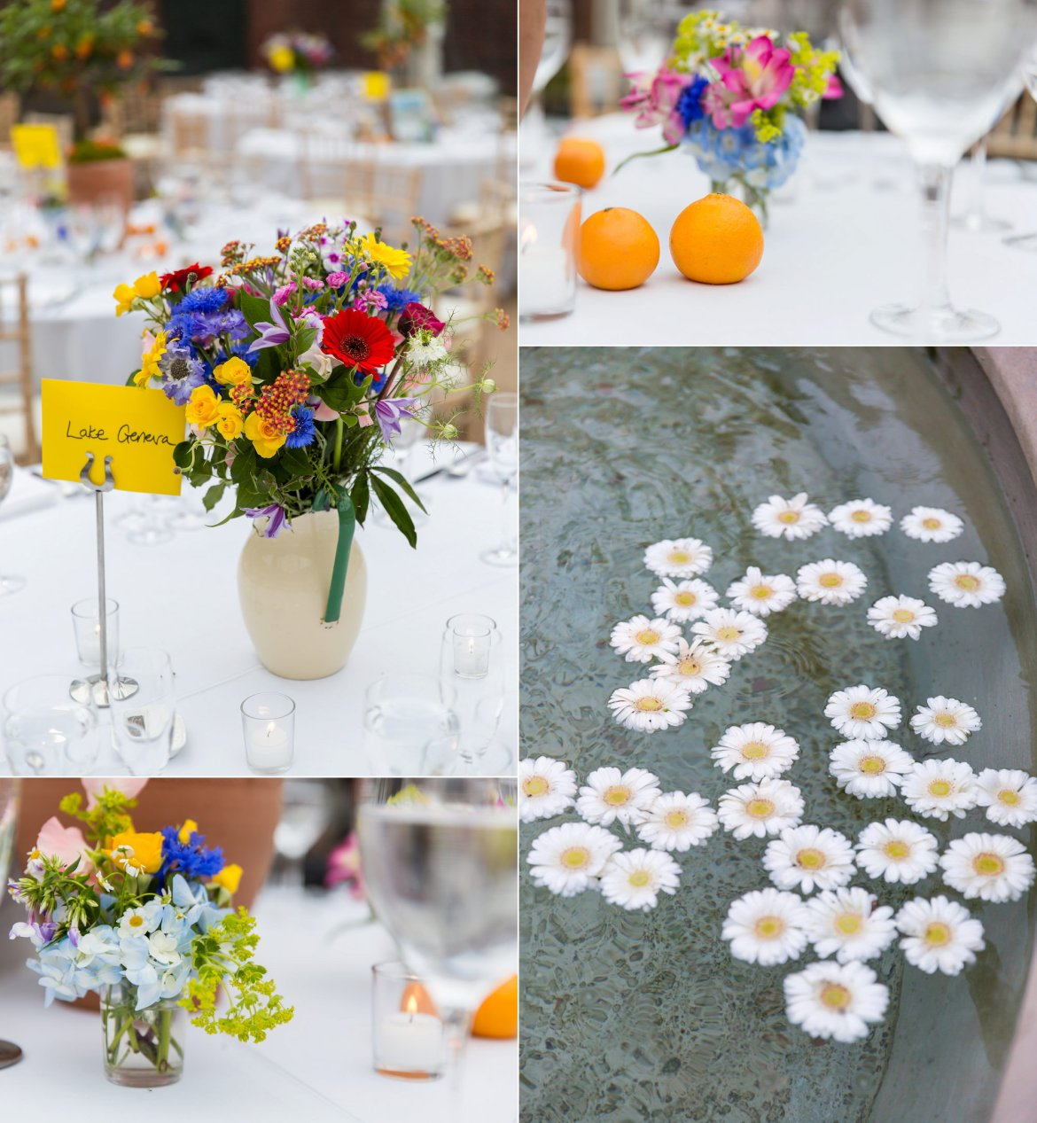wedding tables at Fulham Palace