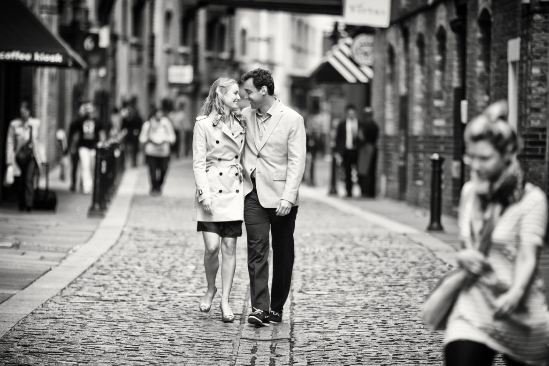 cobbled street engagement shoot