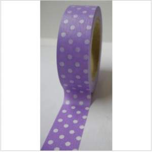 Freckled Fawn Washi Tape Dots Purple