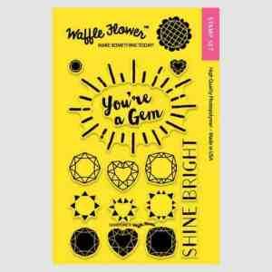 Waffle flower Crafts Gemstone Stamp Set
