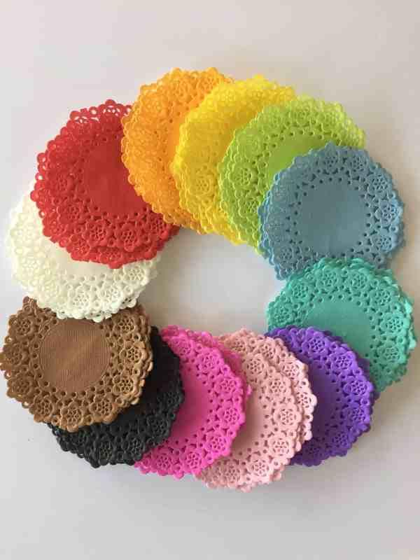Doodlebug Design Mini Doilies Rainbow SAMPLE PACK