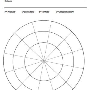 Colour wheel for pencils image
