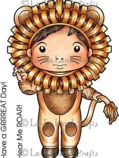 La-La Land Crafts Rubber Stamp Lion Luka