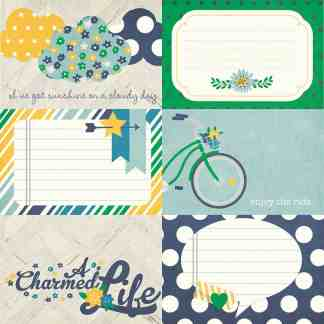 Simple Stories 12x12 A Charmed Life Horizontal Journal Cards