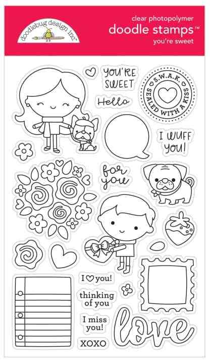 Doodlebug Design Doodle Stamps You're Sweet