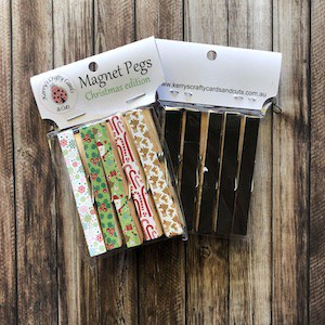 Handmade Magnet Pegs Merry