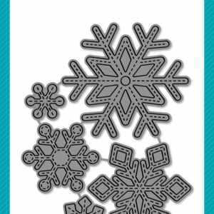 Lawn Fawn Craft Dies Stitched Snowflakes