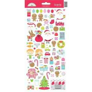 Doodlebug Design Icon Stickers Night Before Christmas