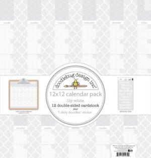 Doodlebug Design Daily Doodles Calendar Sheets Lily White
