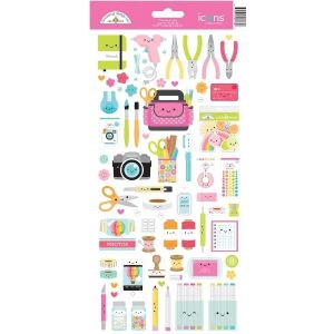 Doodlebug Icon Stickers Cute and Crafty