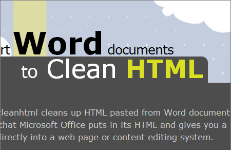 word2cleanhtml