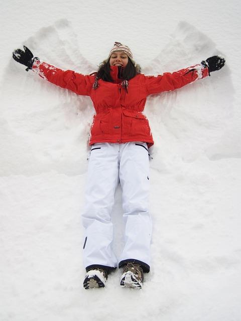 sneeuw engel maken
