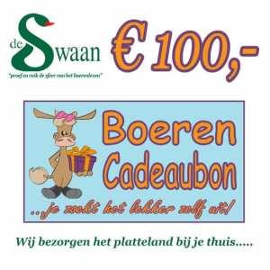 BoerenCadeaubon 100 – Kerstpakket Cadeaubon zelf je kado uitzoeken