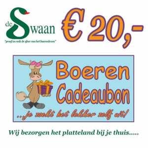 Boeren Cadeaubonnen 20 - Een Cadeaubon is het ideale kerstpakket voor elke medewerker - Bestel een BoerenCadeaubon- www.KerstpakkettenCadeaubon.nl